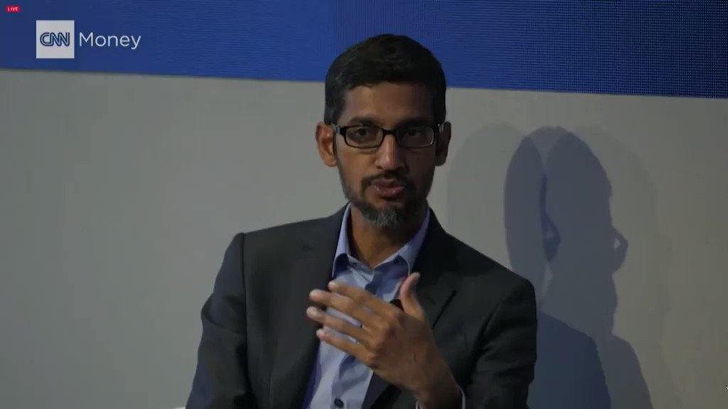 """""""We have to agree to demilitarize AI.""""   Do you agree with @Google CEO Sundar Pichai?"""