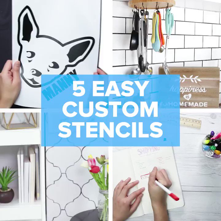These easy custom stencil projects will have your home lookin' 👌👌👌