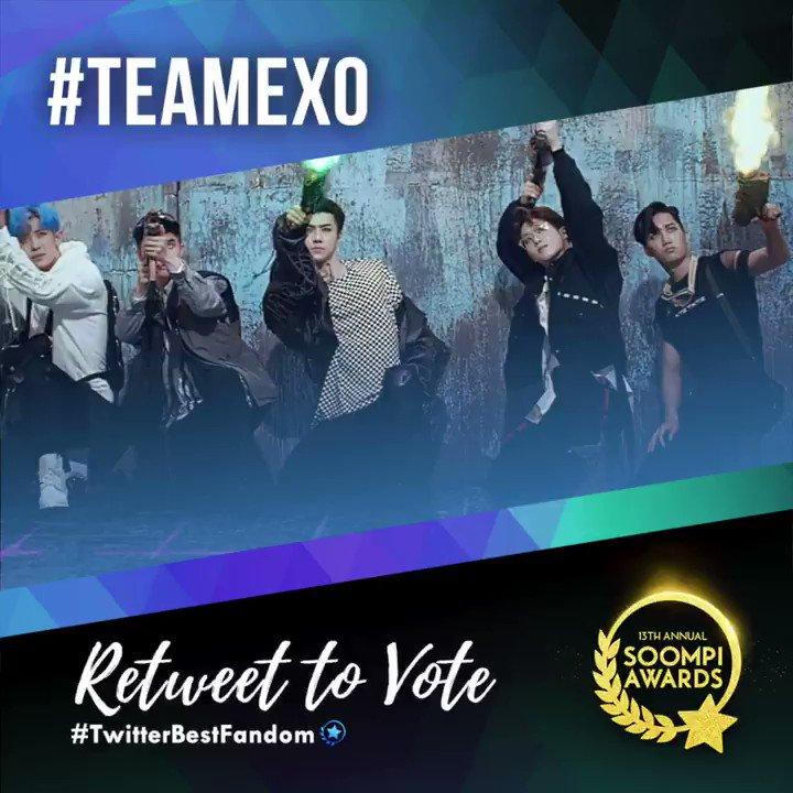 RETWEET TO VOTE #TeamEXO (@weareoneEXO) in the