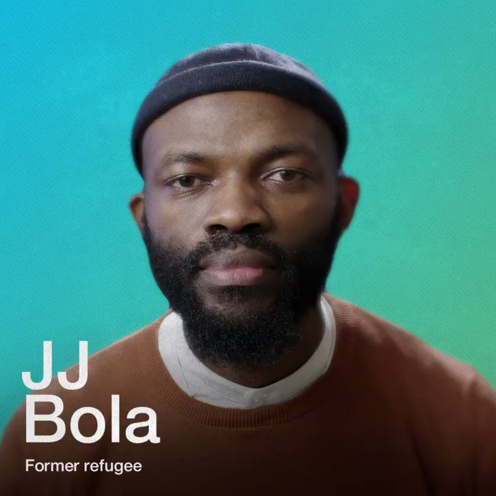 """""""The better we work together, the better we will be able to change the world""""  Slam poet + former refugee JJ Bola explains one way in which the world can collaborate more closely. Via @WEF #SharedFutures"""
