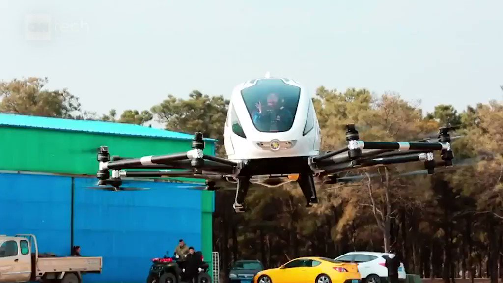 This Chinese startup is flying people in giant drones: