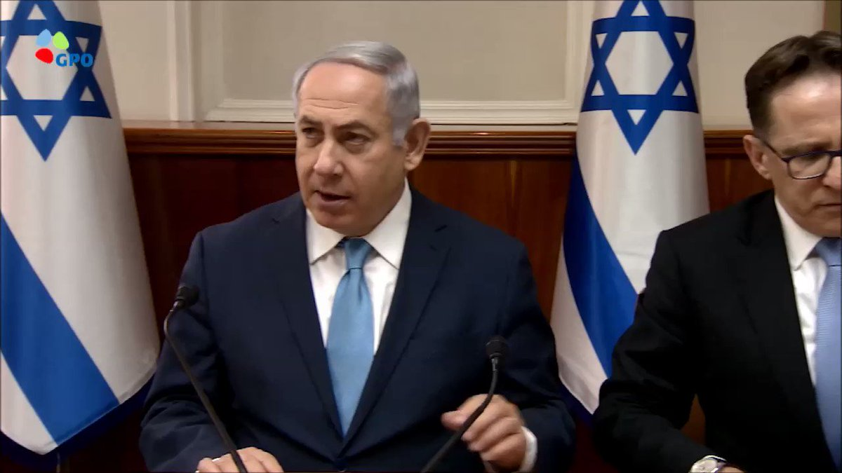 WATCH: Prime Minister Benjamin Netanyahus remarks at the start of the weekly Cabinet meeting this morning.  pmo.gov.il/English/MediaC…