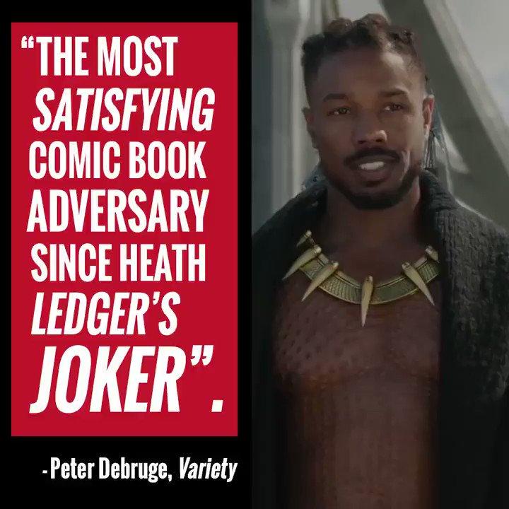 Critics say Michael B. Jordans #Killmonger is one of the MCUs best villains #BlackPanther