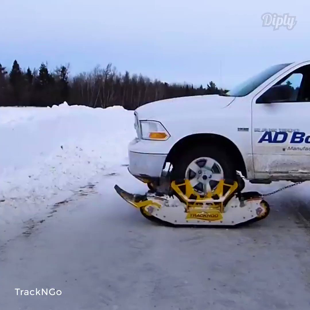The winter commute just got a whole lot easier!  Credit: facebook.com/TrackNGo/