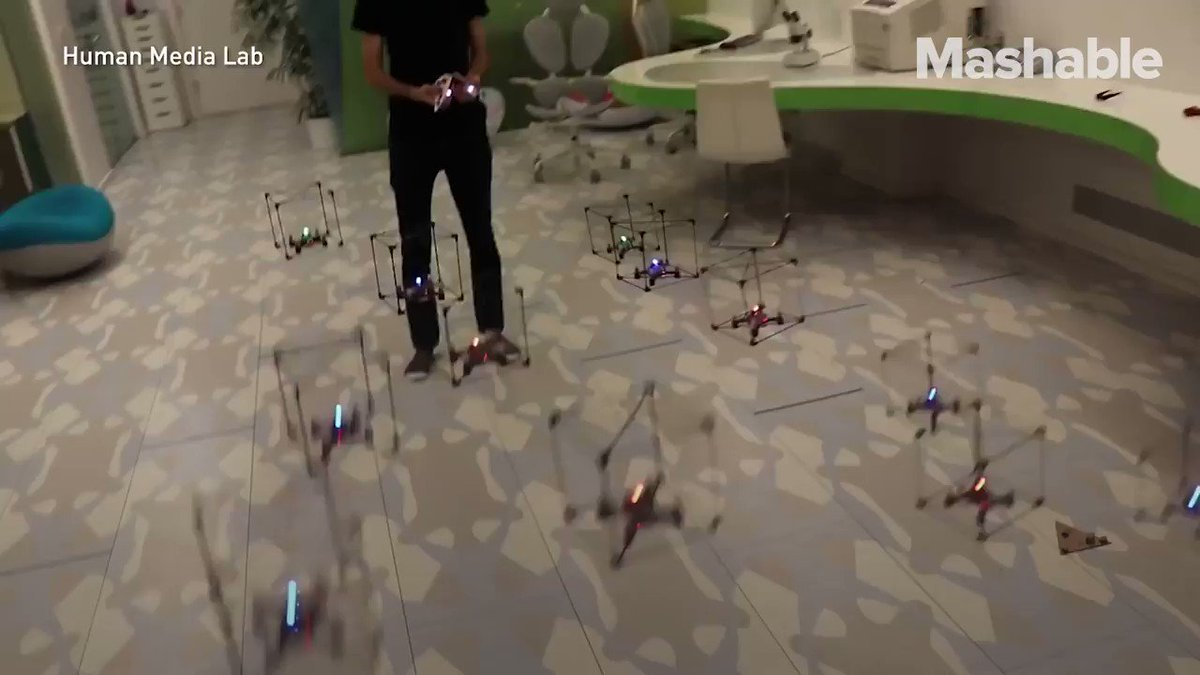 This Lego set lets you control a group of drones in real time