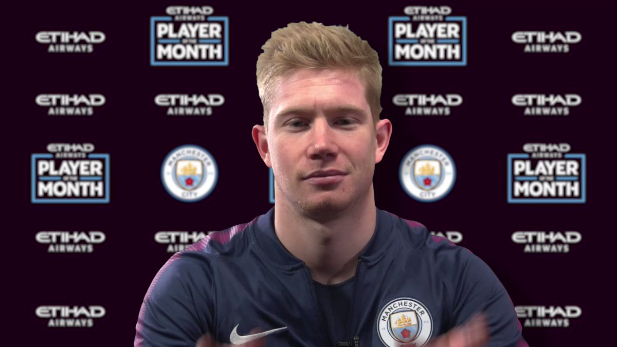 Our @EtihadAirways January Player of the Month, @DeBruyneKev is all about the Dutch rap life! 🎶 #mancity