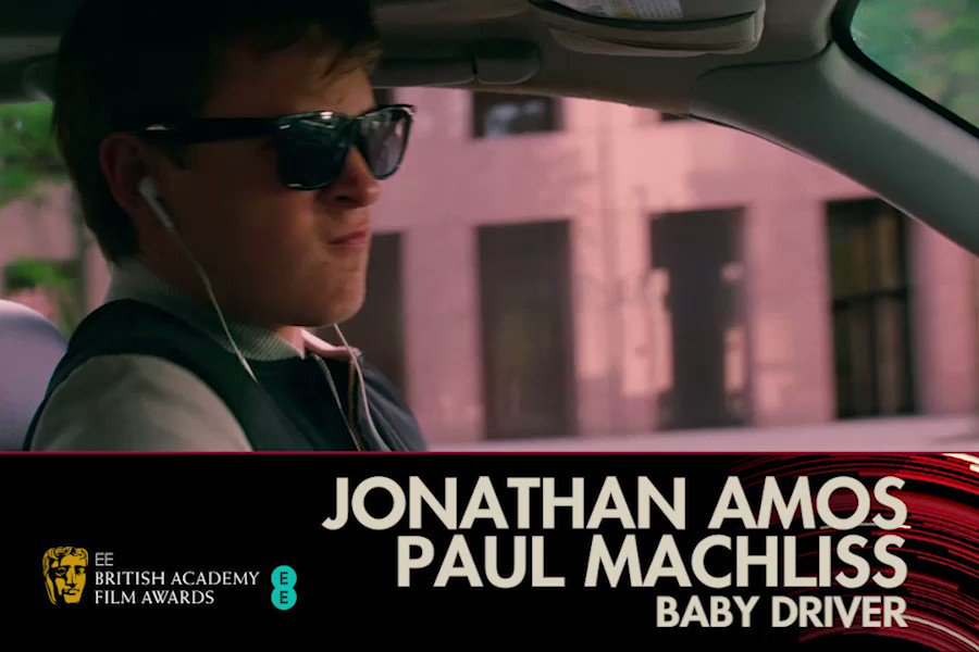 Baby Driver wins the BAFTA for Editing ✂...