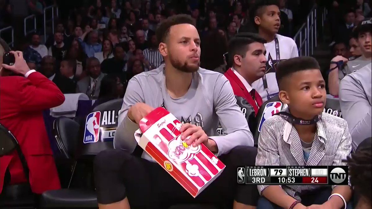 Steph is so unbothered 😂  #NBAAllStar ht...