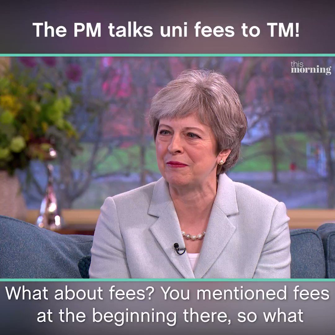 Theresa May tackles #tuitionfees in her...