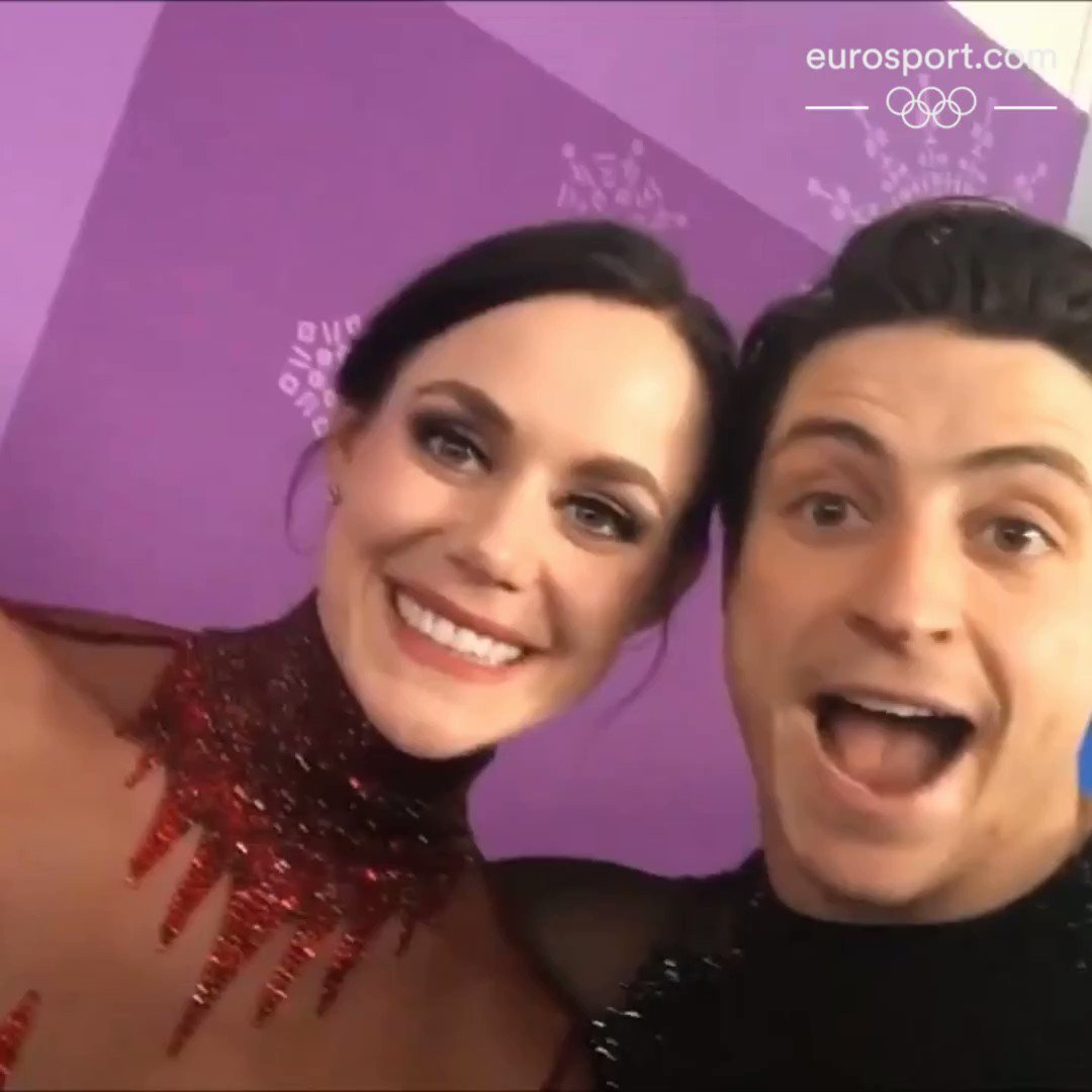 Canadian duo @tessavirtue and @ScottMoir are awesome ... on and off the ice �� https://t.co/NFueEF9UZl