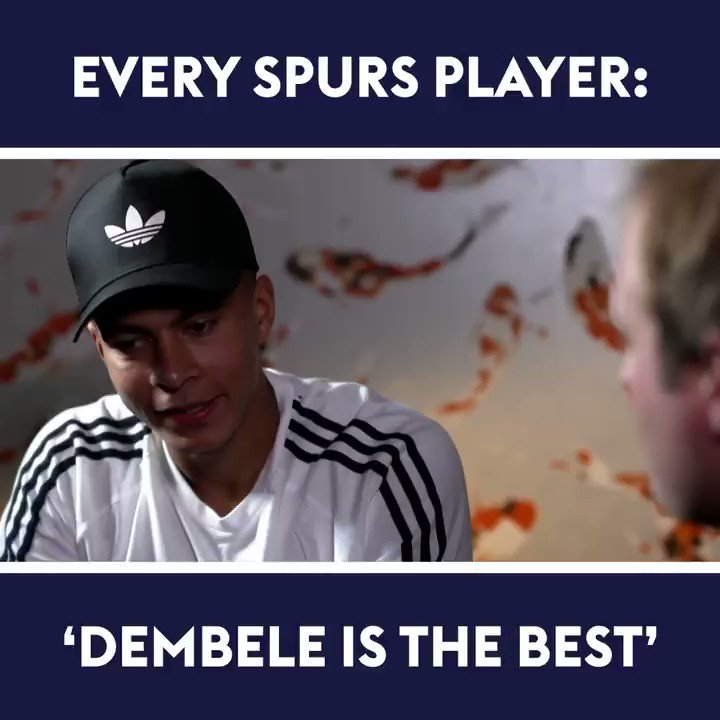 Every single Spurs player weve interviewed says Dembele is the best player at the club!  Is he the most underrated player in the Premier League? 🤔