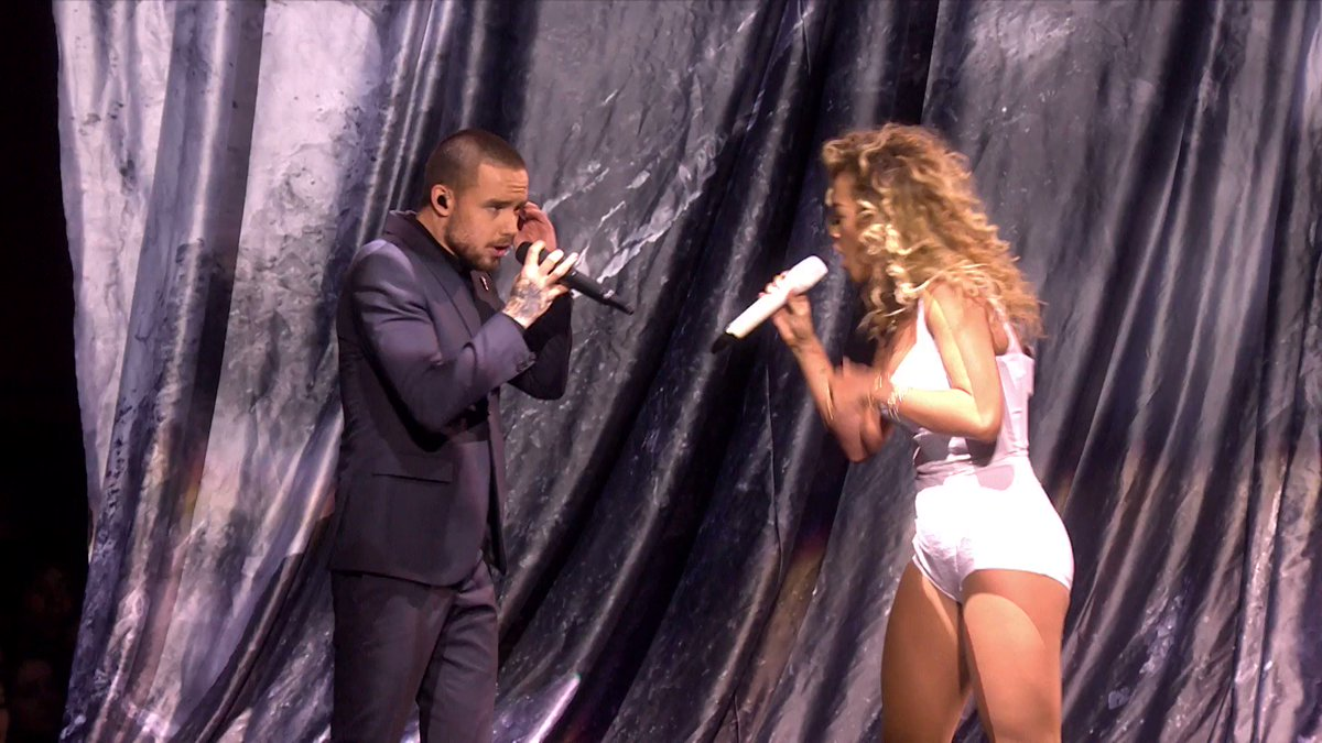 �� @LiamPayne took to The #BRITs 2018 stage for the first time as a solo artist joining @RitaOra for a show stopping performance of their duet For You 🙌 #LiamPayneBRITs #RitaOraBRITs
