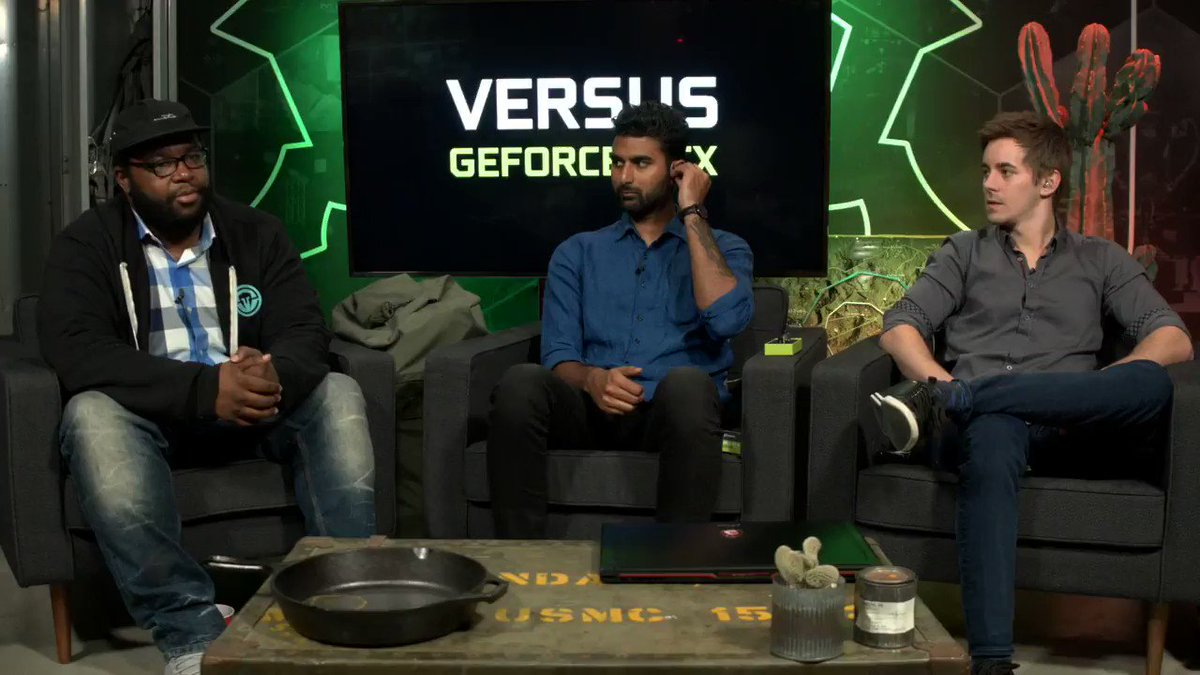 #GeForceVS BONUS ROUND 🍳1 VS. 1 🍳 PANS ONLY   @AnthonyKongphan and @GoldGloveTV have agreed to fight it out pan to pan in a final showdown for an @nvidiashield!   Watch now → twitch.tv/NVIDIA