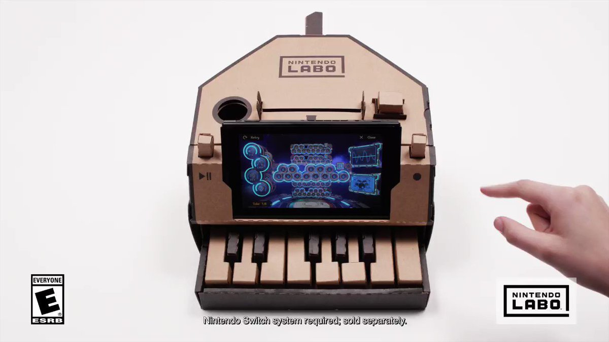 Use the record feature on the #NintendoLabo Toy-Con Piano to save your song, then tweak the track with different sounds and effects! bit.ly/2CfbCej