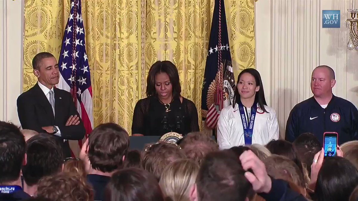 Four years ago, @MichelleObama and I had the privilege to host Lt. Cmdr. Dan Cnossen and his fellow Paralympians and Olympians at the White House. Today, we're so proud of him for winning gold and silver - while still representing the red, white, and blue.