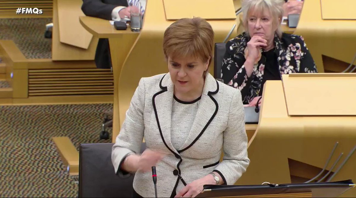 Nicola Sturgeon sets the record straight on workers rights to Richard Leonard at #FMQs. Why wont Labour back devolution of employment law?