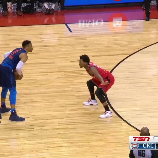Western Conference Player of the Week @russwest44 (25.5ppg, 12apg, 11.3rpg) of the @okcthunder in action! https://t.co/tKszVazqSr