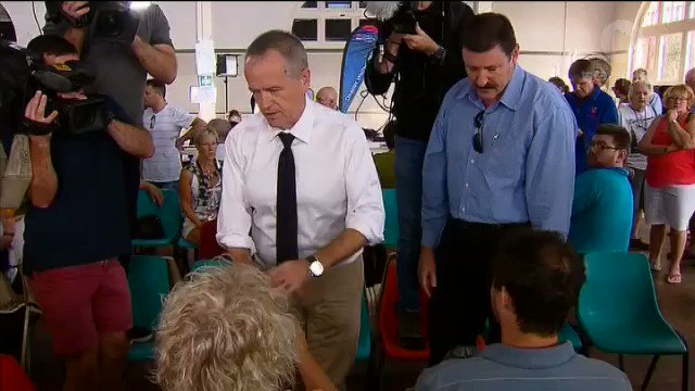 Image for the Tweet beginning: WATCH: @billshortenmp visits victims of
