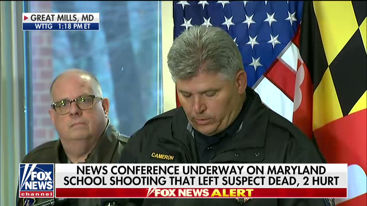News conference underway on Maryland school shooting https://t.co/fQM8o6NGry https://t.co/yln8IxxNZb