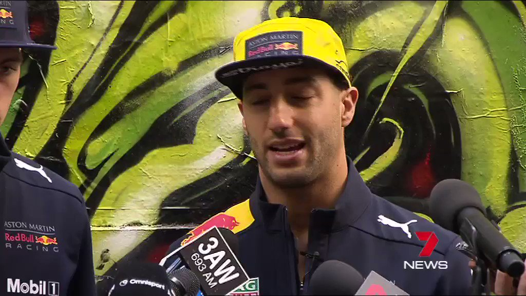 Image for the Tweet beginning: .@danielricciardo talks about the possibility