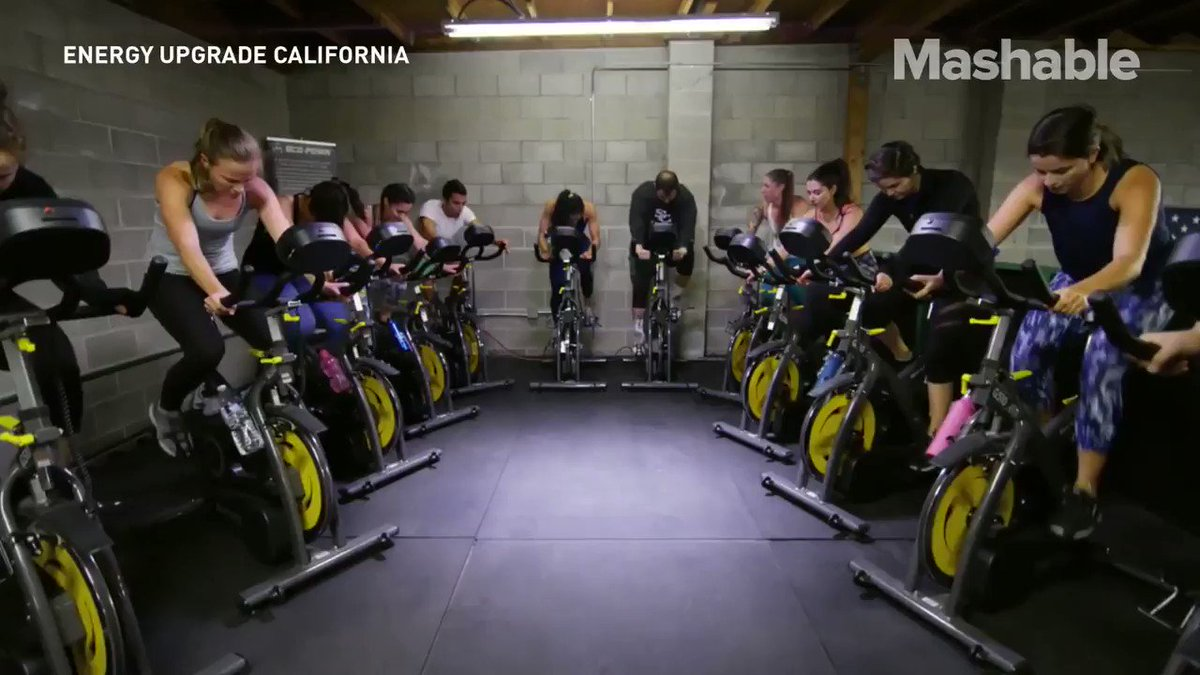 Your cycling actually powers this gym