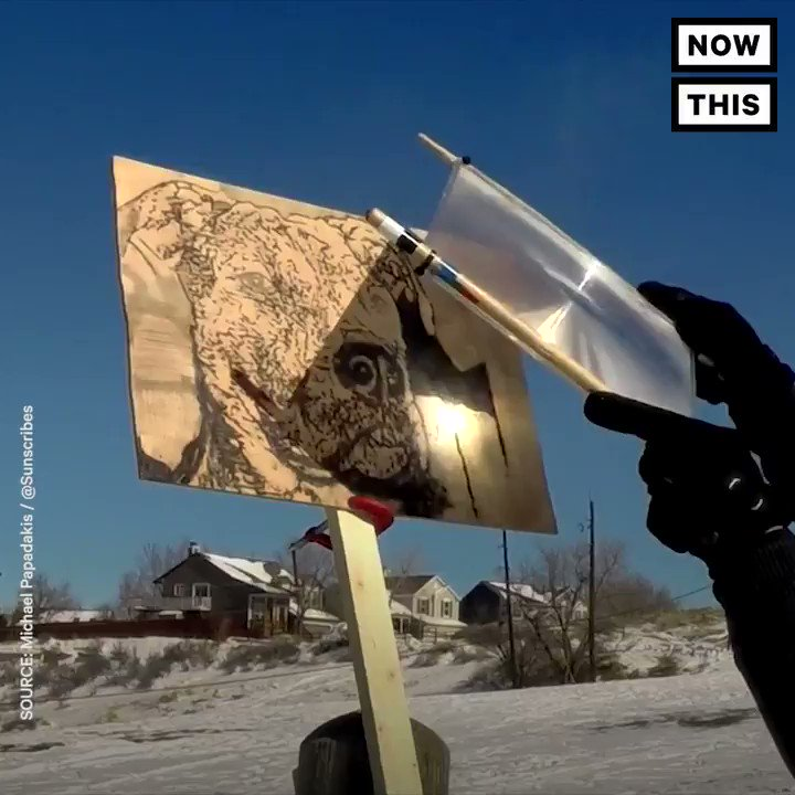 This artist harnesses the power of the sun create his pieces