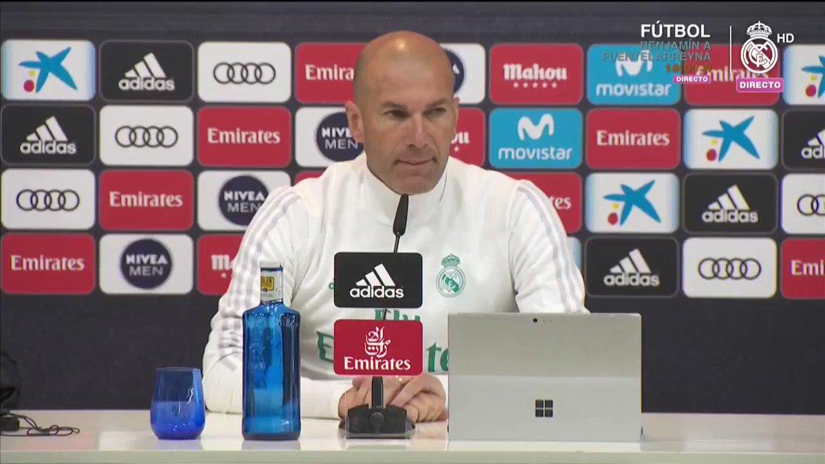 �� ¡Esta fue la respuesta de #Zidane a la primera pregunta de la rueda de prensa! #RMCity https://t.co/0yDi2Nq8HY