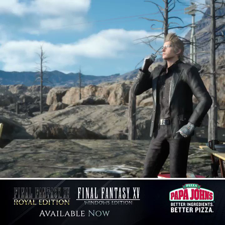 .@FFXVEN is easily our favorite pizza eating sim of all time. Get a taste for it for yourself with our #FFXV sweepstakes: bit.ly/2EZq2f8