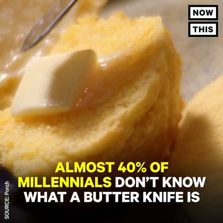 Millennials might be the worst generation of cooks — 40% of them don't know what a butter knife is