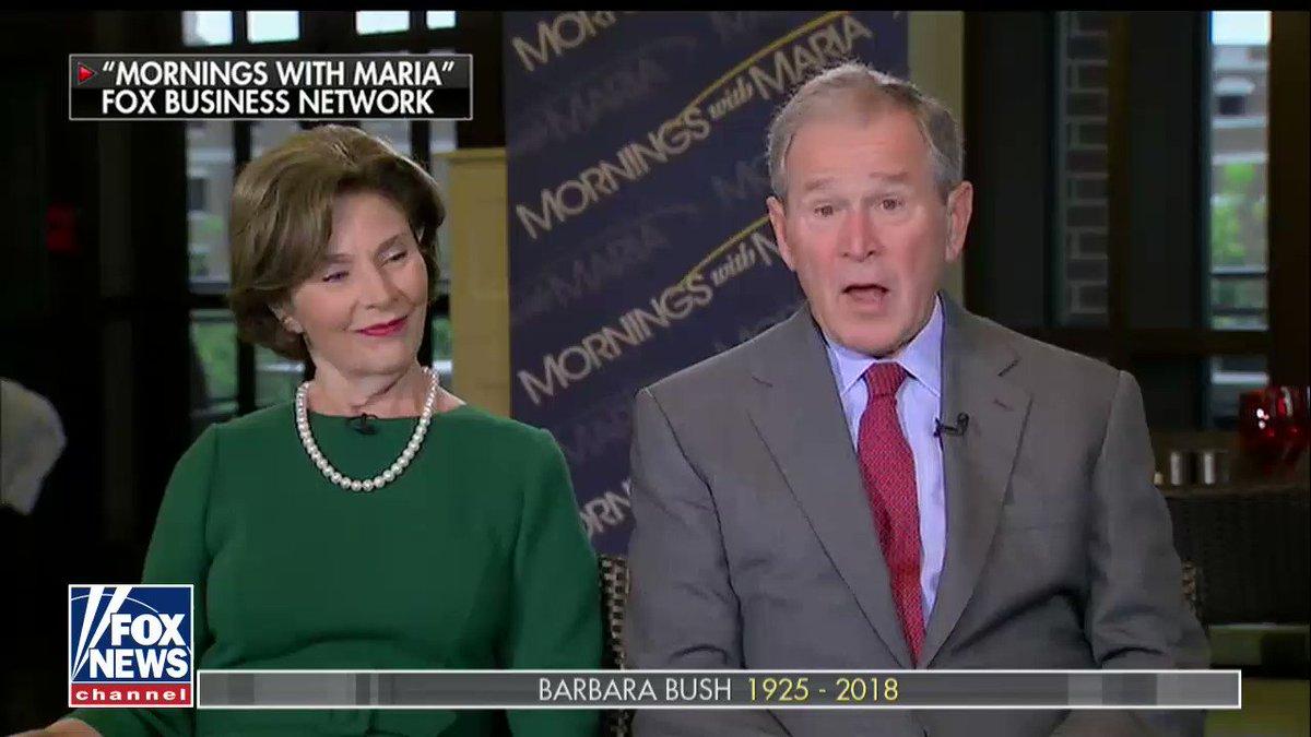 George W. Bush: 'It's the end of a beautiful life.' #BarbaraBush @FoxBusiness @MariaBartiromo https://t.co/uLj9eVMIha