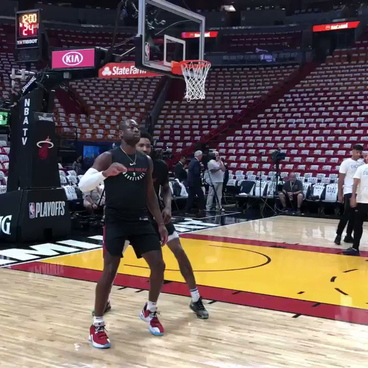 Coming off a 28 point performance in Game 2, @dwyanewade warms up for Game 3 in Miami!  ��: @NBAonTNT - 7pm/et https://t.co/4fqmGy2GHo