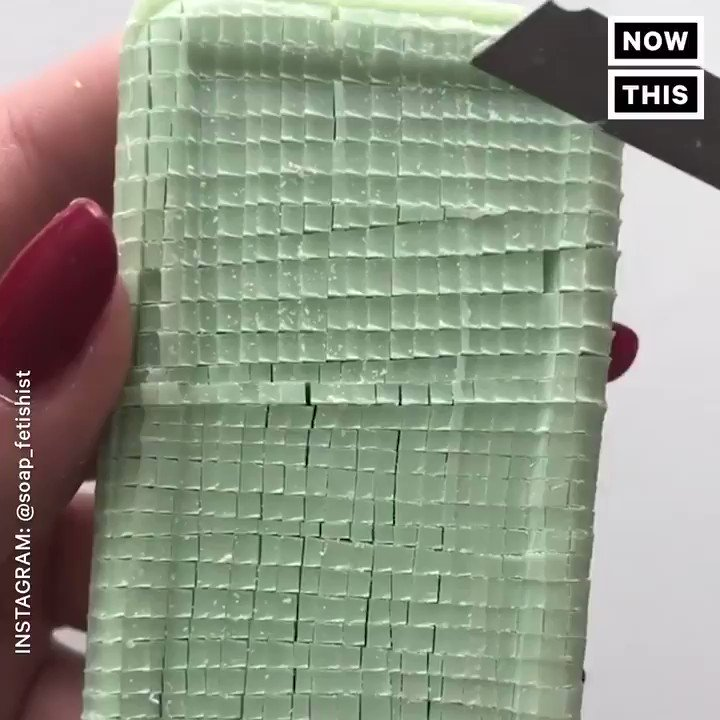 These videos of people cutting soap are oddly mesmerizing https://t.co/xRRblQmA09