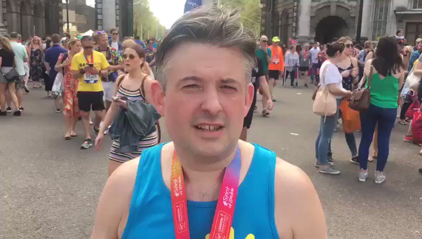 Thank you so much to all of you. #LondonMarathon https://t.co/0jCRaqbdIa