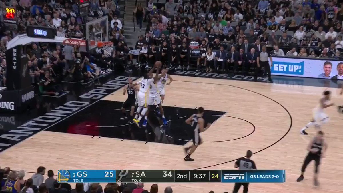 Draymond draws the defense, Shaun slams it home ��   ��: #NBAonABC https://t.co/DZkzpvLlSe