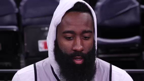 Harden talks about the team focusing on defense & making adjustments for Game 4.  Full practice interview ⤵️ https://t.co/9hBPnCeAE4