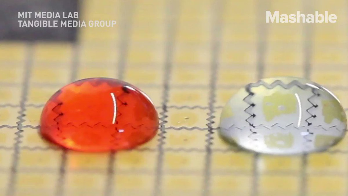Researchers at MIT are now able to program water droplets and move them individually across surfaces https://t.co/PtEHpyWFTl