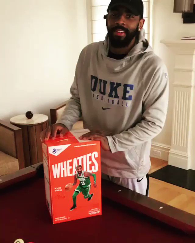 info for d7f6d e9538 Uncle Drew gracing Wheaties box fresh pair Kyrie kyrieirving ...