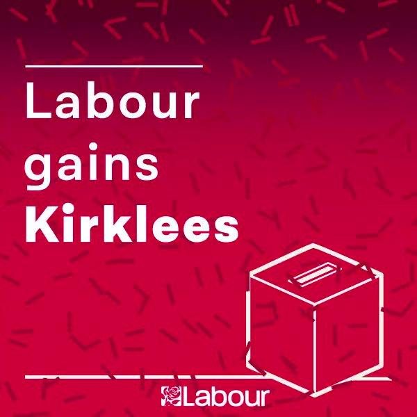Labour gain: Kirklees. Congratulations @kirkleeslabour! https://t.co/MJHdaS56uG