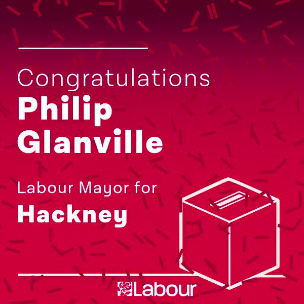 Congratulations @PhilipGlanville, Labour Mayor for Hackney! https://t.co/WdWZtT4xT1