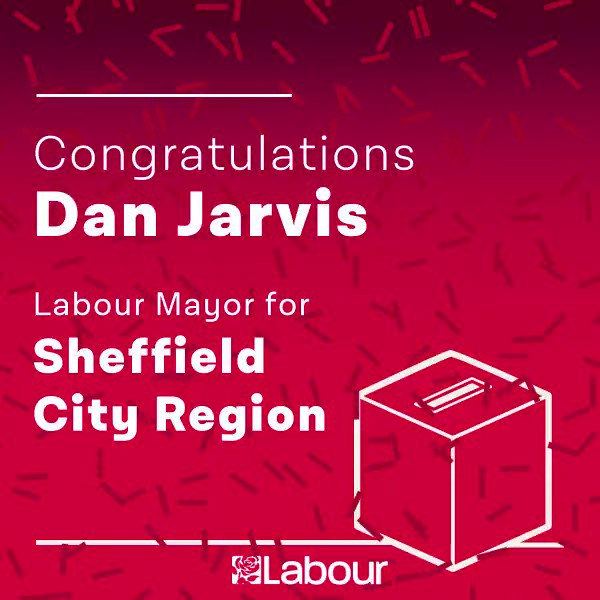 Congratulations @DanJarvisMP, Labour Mayor for Sheffield City Region! https://t.co/78CLHjjNCt