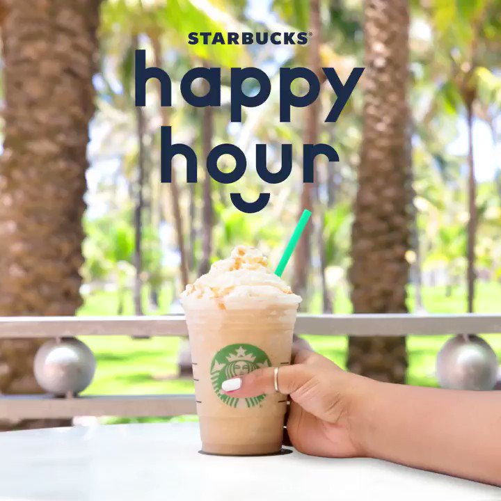 When is frappuccino happy hour 2018