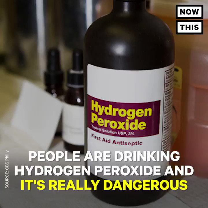 Nowthis On Twitter People Are Drinking Hydrogen Peroxide For Health But It Could Kill You