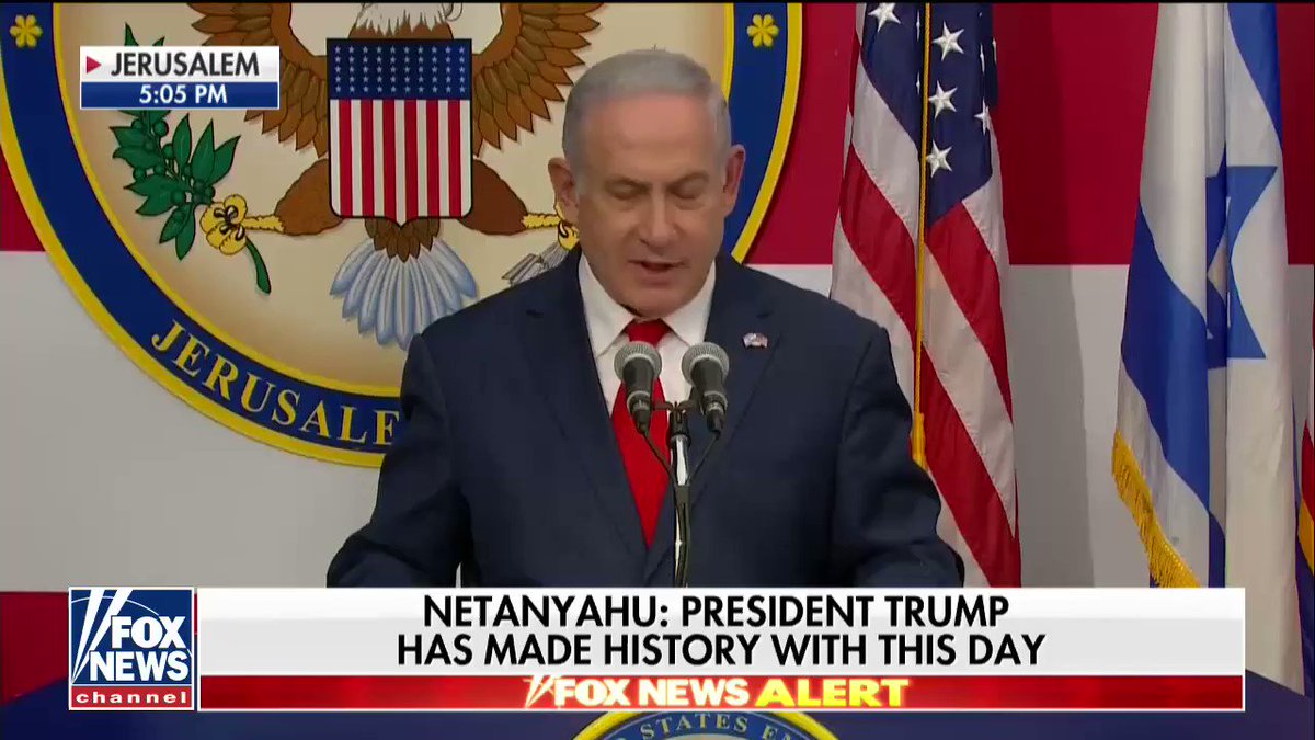 ".@netanyahu: ""Thank you President Trump for having the courage to keep your promises."" https://t.co/en76TdDYiw"