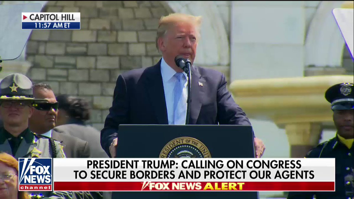 ".@POTUS: ""We will protect those who protect us and who do such a great job in protecting us."" https://t.co/JtXhm0u9nP"