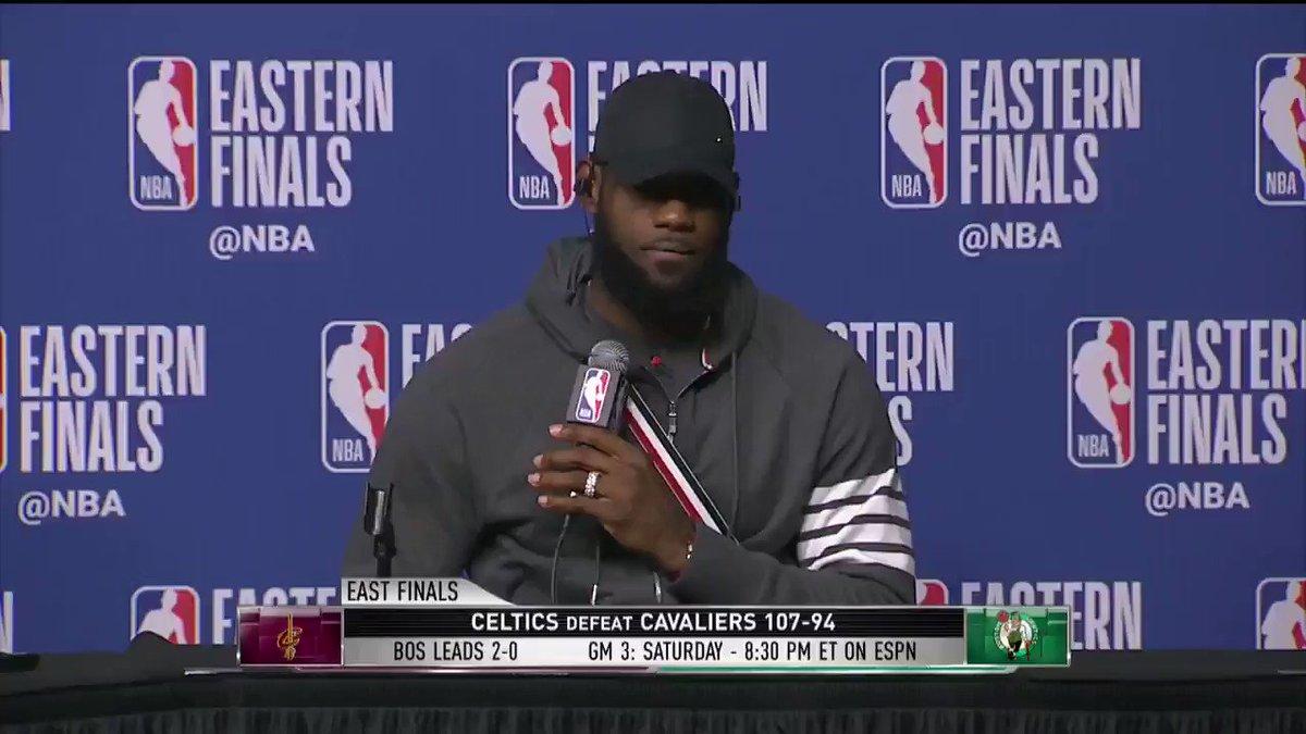 .@KingJames isn't losing sleep... unless no one asks @kevinlove a question! �� (Via @NBATV) https://t.co/5nYVXKl9xY