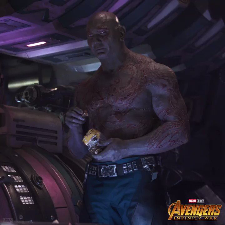 See if you can spot #Drax in this clip from Marvel Studios @Avengers: #InfinityWar. Get tickets and watch it again in theaters: fandango.com/infinitywar