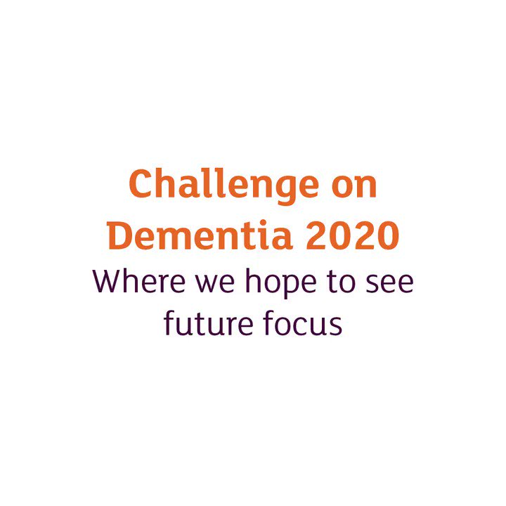 8 things we want the Challenge on Dementia 2020 to focus on.  Read more 👉 https://t.co/gPGSYl87n7