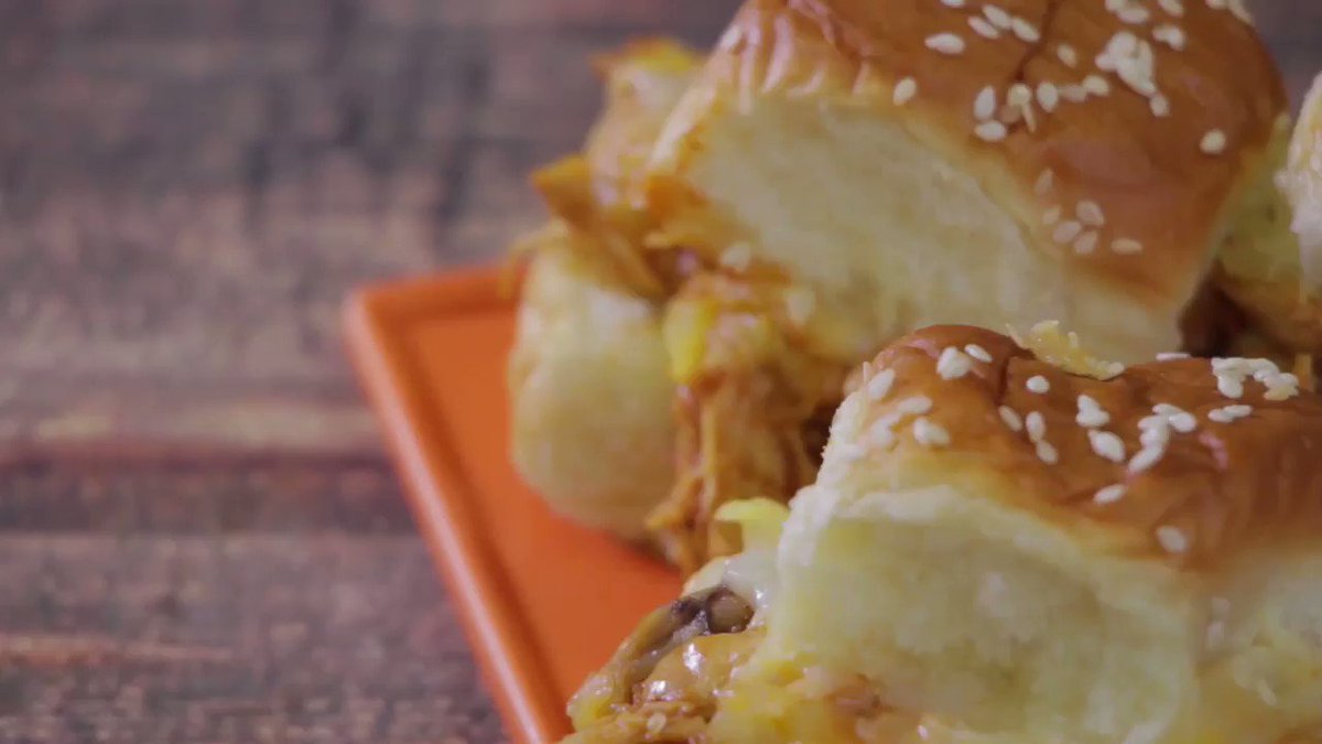 These BBQ Chicken Pull-Apart Sliders are a simply and tasty addition to any party this weekend! #OneChewThree #TheChew