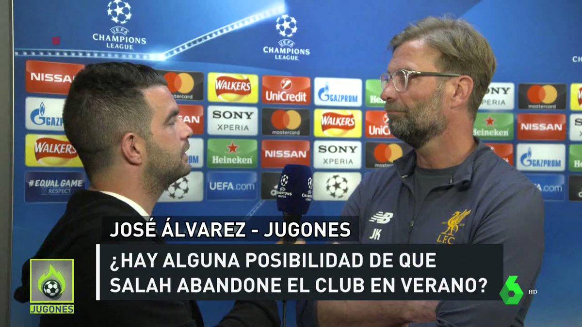 ¡LO TIENE CLARO! Klopp ASEGURA que Salah CONTINUARÁ en el Liverpool. #JUGONES