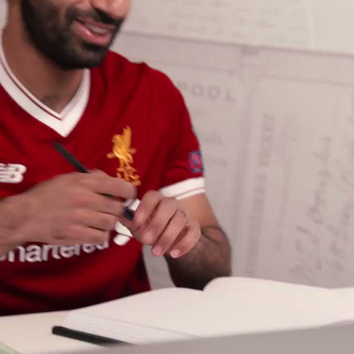 Mohamed Salah artwork ��  #UCLfinal @MoSalah @LFC https://t.co/Dr7ZJZW177